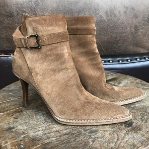 GUCCI TAN SUEDE BOOTIES!